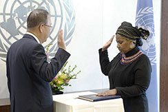 Swearing-in-Ceremony:  Ms. Phumzile Mlambo-Ngcuka, Executive Director, UN Women