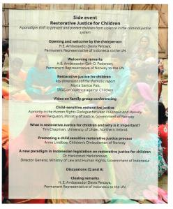 Flyer Restorative Justice for Children