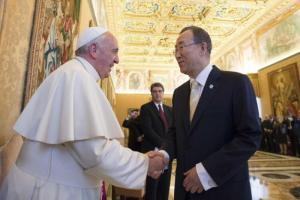 Pope and Ban Ki Moon