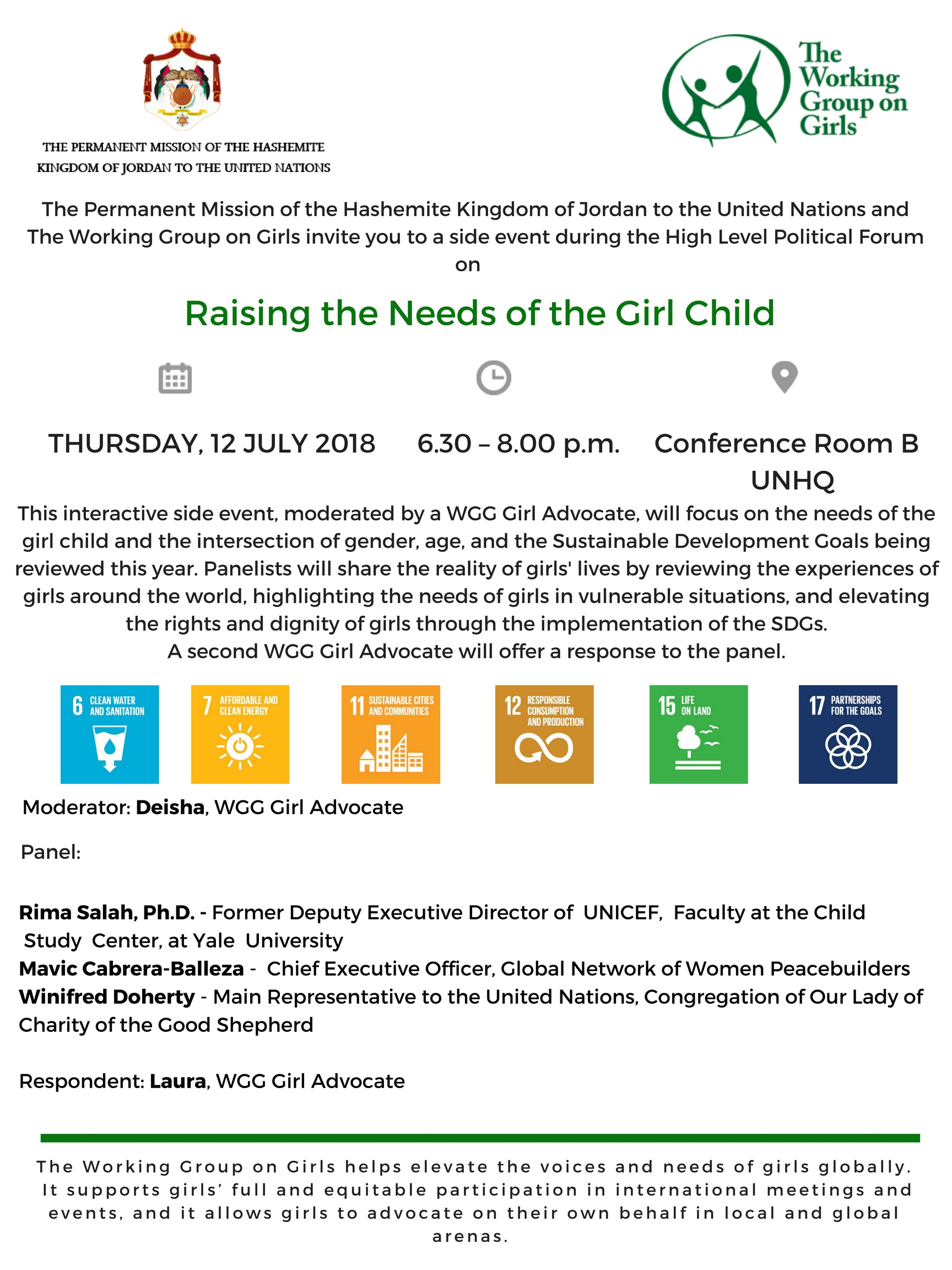 WGG HLPF 2018 Side Event Flyer July 12